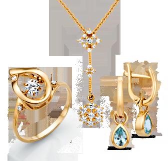 Кольца, серьги, браслеты и цепи, броши, сувенирная продукция